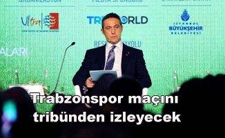 Başkan Ali Koç Trabzonspor deplasmanındatribünde