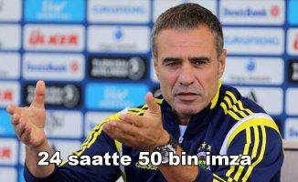 Fenerbahçe taraftarından Ersun Yanalimza kampanyası