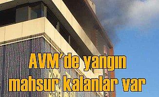 Lüleburgaz Bercadia AVM'de yangın; Mahsur kalanlar var