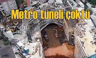 Metro tüneli çöktü, iki kişi can verdi