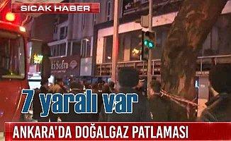 Ankara'da patlama; 9 yaralı var
