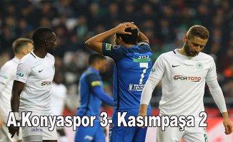 Konyaspor, Kasımpaşa'yı 3 golle devirdi