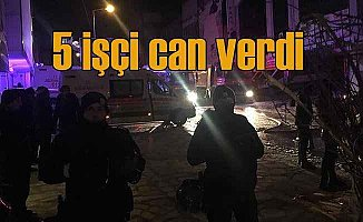 Ankara'da feci yangın; 5 işçi feci şekilde can verdi