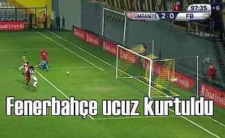 Ziraat Kupası: Ümraniyespor 1 - Fenerbahçe 0