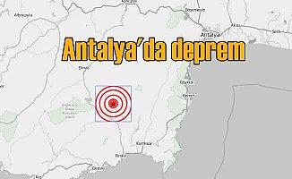 Antalya Finike'de deprem; Finike 4.1 ile sallandı
