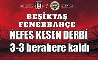 Beşiktaş Fenerbahçe  Kartal ikinci yarıda dağıldı