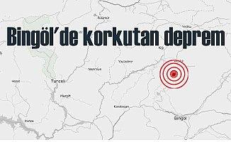Bingöl'de deprem; Bingöl Adaklı 4.0 ile sallandı