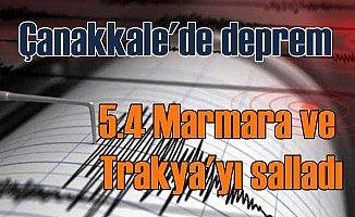 Çanakkale'de deprem, 5.5 deprem İstanbul'da hissedildi