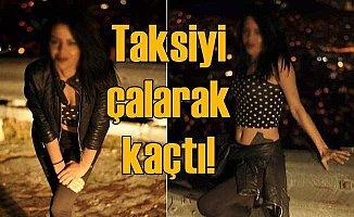 Genç kız, elinde bıçakla taksiciyi gasp etti