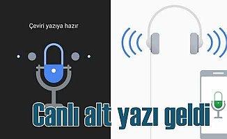 Google ses yükseltici ve canlı altyazı uygulaması
