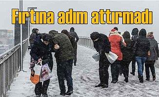 İstanbul'da kar yağışı yayaları vurdu
