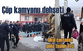 Kayseri'de hız yapan çöp kamyonu minik ezgiyi öldürdü
