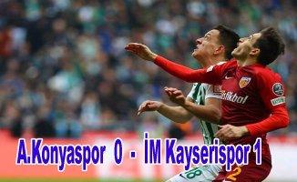 Konyaspor evinde kaybetti