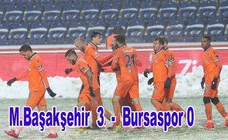 Lider Başakşehir 3 puanı 3 golle aldı