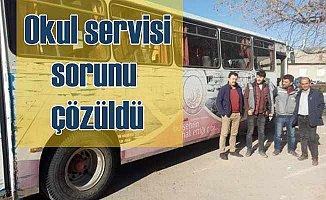 Ortakaraören'den öğrenci servisi krizi aşıldı
