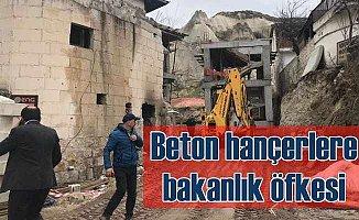 Peri Bacaları rezaletine bakanlık el koydu;  Kaçak oteller yıkılıyor