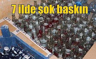7 ilde sahte alkol operasyonu: 83 gözaltı var