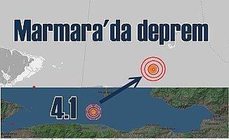 Bandırma Mudanya arasında deprem; 4.1