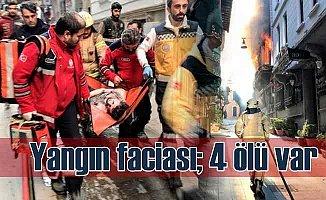 Beyoğlu'nda yangın faciası, 4 ölü var
