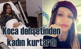 Bıçaklı koca dehşetini, kuru sıkı tabancalı kadın önledi