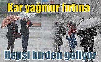Bugün hava nasıl olacak; Kar ve yağmur uyarısı