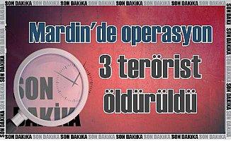 Mardin'de çatışma: 3 terörist öldürüldü, 3 asker yaralı