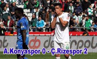 Rizespor Konya'dan altın değerinde 3 puan çıkardı