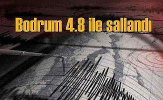 Bodrum'da deprem, 4.8 ile sallandı