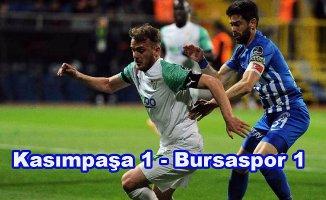 Bursaspor puan kaybetmeye devam ediyor