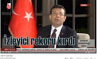 Ekrem İmamoğlu ile HalkTV izleyici rekoru kırdı