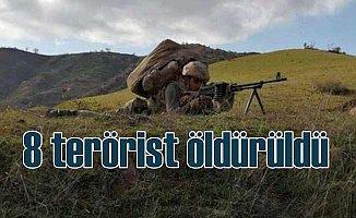 Havalar ısınınca PKK haraketlendi, 8 terörist öldürüldü