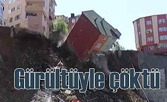 Kağıthane'de bina çöktü, yanındaki bina ise yıkıldı