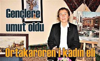 Ortakaraören'in kadın muhtarı, başkan gibi çalışıcak