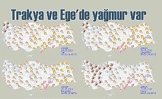 Bugün hava nasıl olacak? Ege ve Trakya'da yağmur var