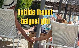 Cem Özer tatilde, eşinin arkadaşı ile el ele
