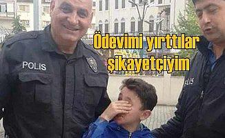 Ev ödevi yırtılan Metahan polisten yardım istedi