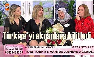 Esra Erol programında Vahide anne Türkiye'yi ekranlara kilitledi