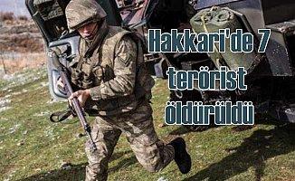 Hakkari'de 7 PKK'lı terörist öldürüldü