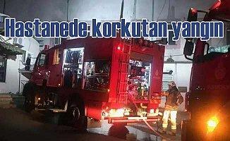 Hastanede yangın, hastalar tahliye edildi