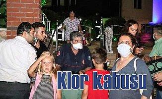 Klor gazı zehirlenme paniği yaşattı