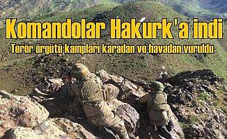 Komandolar PKK'nın Hakurk kampına girdi