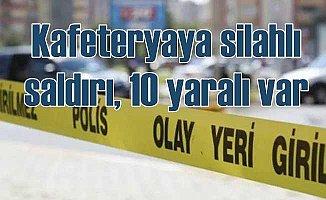 Konya'da kafeteryaya silahlı saldırı, 10 yaralı var