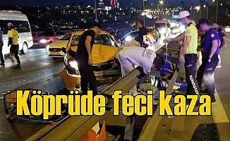 Köprüde feci kaza, İstanbul trafiği kilitlendi