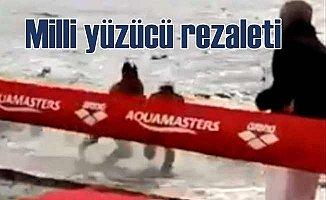Milli yüzücüden skandal çelme