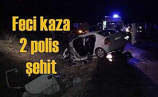 Tokat Artova'da feci kaza, 2 polis memuru şehit