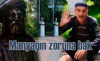 Türk büyüklerine baltalı saldırı | magandanın zoruna bak