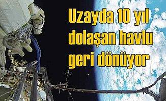 Uzayda başı boş dolaşan havlu 10 yıl sonra bulundu