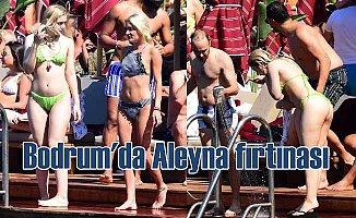 Bodrum'da sahillerinde Aleyna Tilki fırtınası