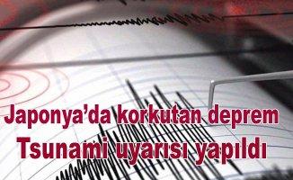 Japonya'da deprem, Tsunami uyarısı yapıldı