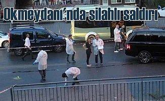 Okmeydanı'nda silahlı saldırı, 4 yaralı var